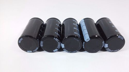 M Electrolytic Aluminium Snap In New 5 G-LUXON Capacitor 100V 2200uF HW105*C