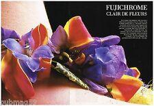 Publicité Advertising 1988 (2 pages) Films Fujichrome photo par Jean Larivière