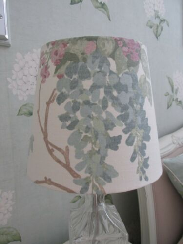 Handmade Tapered Drum Lampshade Laura Ashley Wisteria  fabric 20cm all colours