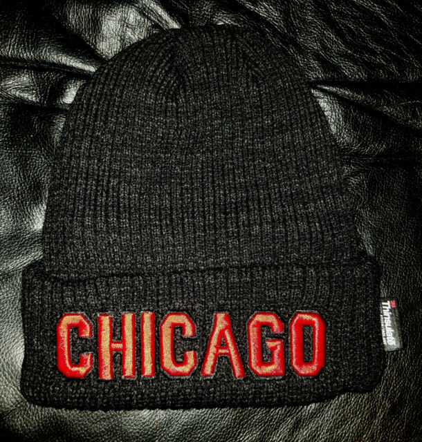 88c9acbfa43 Chicago Winter Skull Hat Red With a Black and White Patch for sale ...