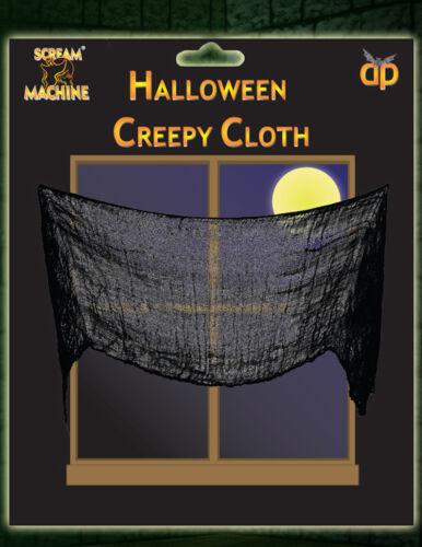 Halloween noir creepy cloth matériel table porte fenêtre décoration 228cm x 76cm