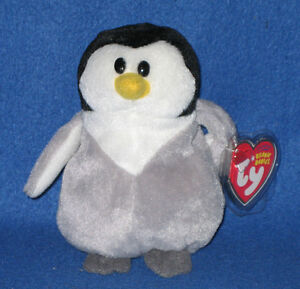 13425795744 TY SLAPSHOT the PENGUIN BEANIE BABY - MINT with MINT TAG 8421406180 ...
