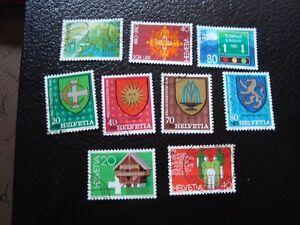 Switzerland-Stamp-Yvert-and-Tellier-N-1114-A-1122-Obl-A3-Stamp-Switzerland
