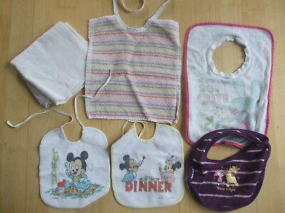 Baby Lätzchen Set - 5 Stück + Mullwindel