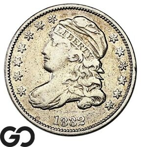 1832-Capped-Bust-Dime-Tough-Type-Choice-XF-Silver-10c
