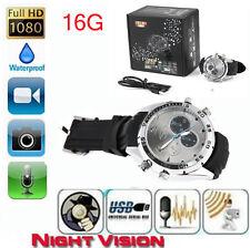 Spy DV Wrist Watch 1080P Waterproof 16GB Video IR Night Vision  Hidden Camera