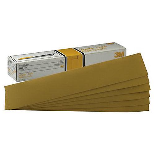 "3M Hookit Gold Sheet 50 sheets//box P180C Grit 02470 2 3//4/"" x 16/"""