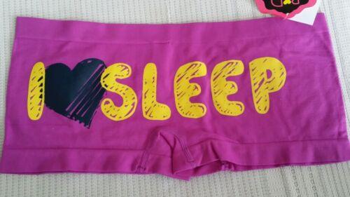 Purple Boyshorts with I♡SLEEP on the back Size Small 11885