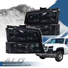 Smoked Clear Corner Headlightssignal Bumper Lamp Fit For 03 07 Chevy Silverado Fits More Than One Vehicle