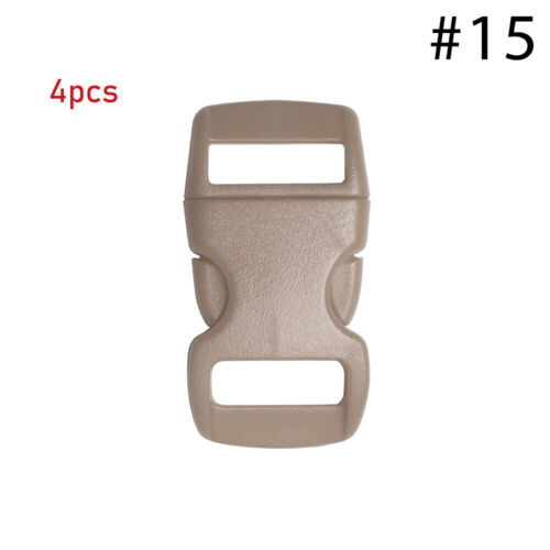 """3//8/"""" 10mm Colorful Contoured Side Release Buckles for Paracord Bracelet"""