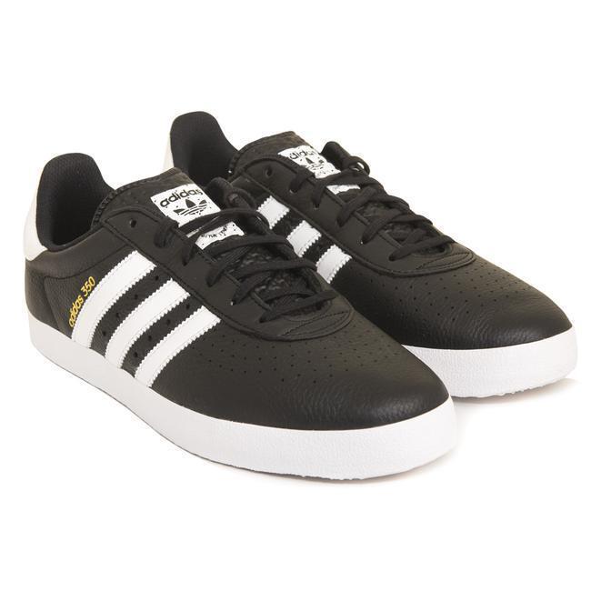 Adidas Originals 350 Noir/Blanc en Cuir Baskets UK 10  Entièrement neuf dans sa boîte & Inutilisé -