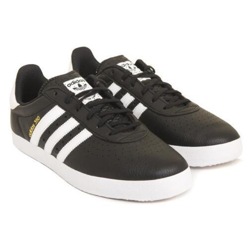 Uk nero Adidas 350 Trainers Originals amp; 12 Leather bianca Unused bnib xqqYwEar