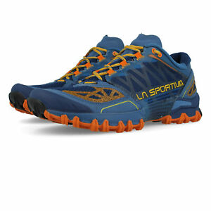 fd64400580b9 Image is loading La-Sportiva-Bushido-Mens-Orange-Blue-Trail-Running-