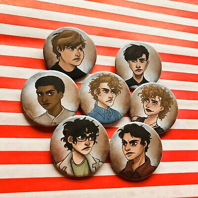 PAPER BOAT OFFICIAL IT LOSERS CLUB PENNYWISE LOSER 3 PEICE PIN BADGE SET