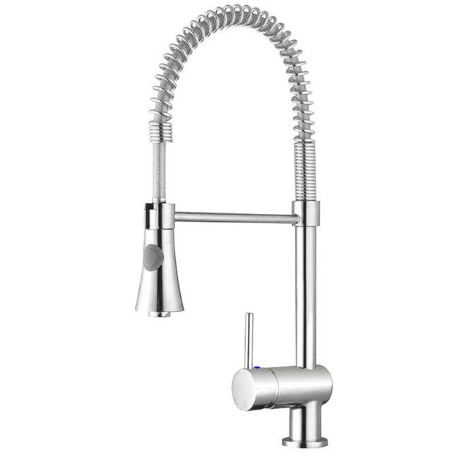 Gastro Armatur Spiralfeder Spirale Küchenarmatur mit Brause Wasserhahn Küche