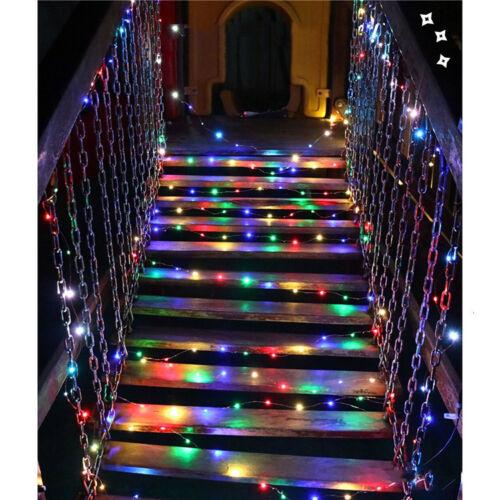 100 200 LED ENERGIA SOLARE GIARDINO FAIRY stringa luci esterno Lampada Decorazione del filo di rame