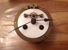 Antique Barrel Skeleton Clock Movement Chiming for Restoration 113mm Diameter