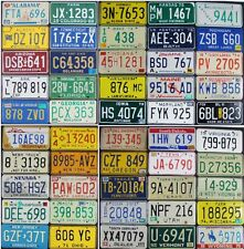 All 50 United States License Plates VINTAGE Standard SET - All Embossed Plates