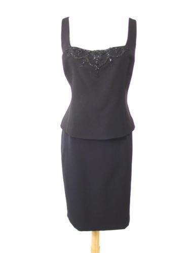 BADGLEY-MISCHKA schwarz Cocktail Dress Suit Suit  sz 8-10