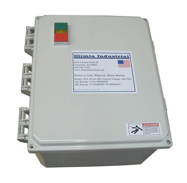 Motor Starter 20 HP @ 480V 23-32 Amp Overload 120 Volt Coil 20HP Heavy Duty 40