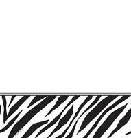 Zebra Animal Print Jungle Safari Birthday Party Decoration Plastic Tablecover