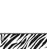 Zebra Animal Print Jungle Safari Birthday Party Decoration Plastic Tablecover