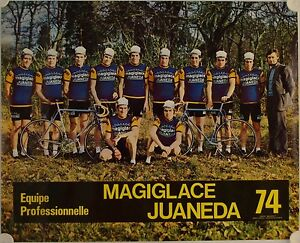Affiche-Tour-de-France-1974-EQUIPE-MAGIGLACE-JUANEDA
