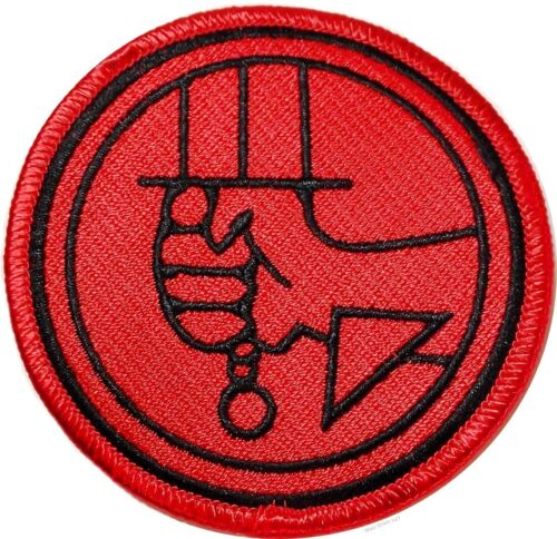 """HELLBOY Bureau Paranormal Research 3/"""" Sew Ironed On Embroidery Applique Patch"""