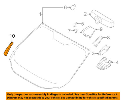 FORD OEM 17-18 Escape Windshield-Molding Left GJ5Z78018A17AB