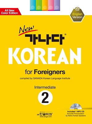 new 가나다 KOREAN for Foreigners 2 Intermediate w/ CD Free Ship 9788955189131