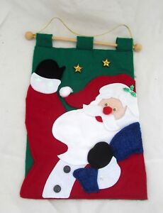 Santa-Garden-Patio-Flag-Banner-Sign-Wall-Hanging-Door-Christmas-Holiday-Decor