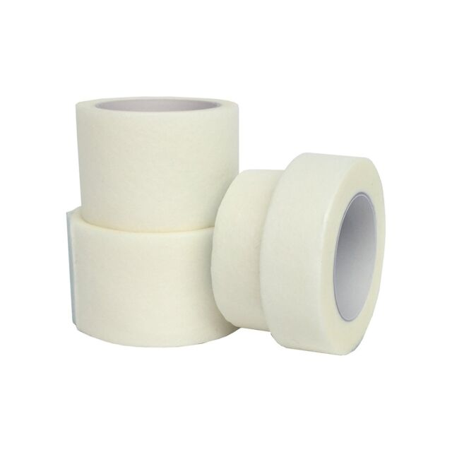 Whaline 6 Rolls Medical Tape Clear Surgical PE Microporous First Aid 1 Inch 10