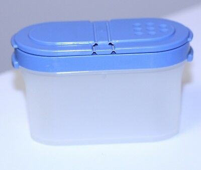Tupperware Small Spice Container Shaker blue lid #1843-25 replacement/addition
