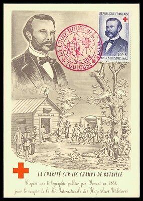 Stamps Bright France Mk 1958 Rotes Kreuz Dunant Red Cross Maximumkarte Maximum Card Mc Cm Am98 Quality And Quantity Assured