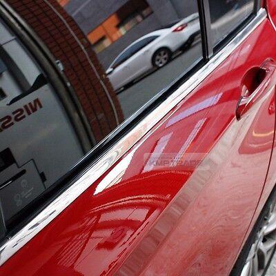 Flexible Chrome Edge Molding Window Sill Side Door Scuff For Universal Car