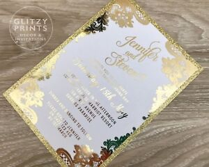 gold foil wedding invitation gold foil invitation gold glitter