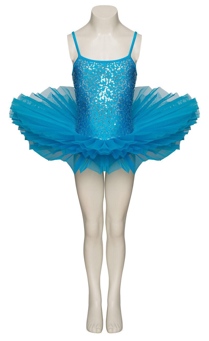 Türkis Blau Funkelnd Tutu mit mit mit Silber Pailletten Tanz Ballett Kostüm Tutu Katz | Deutschland  | Erste Kunden Eine Vollständige Palette Von Spezifikationen  d4c9d5