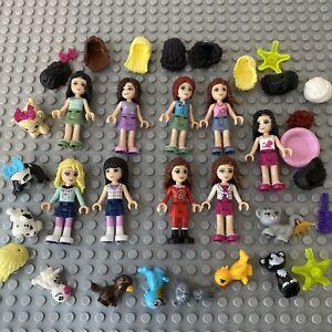 LEGO Friends Ragazze minifigura Bundle JOB LOTTO RICAMBI ACCESSORI ANIMALI