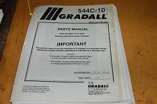 Gradall 544c 10 Telescopic Forklift Material Handler Parts Manual Book Catalog
