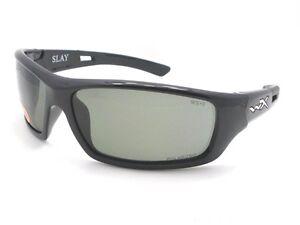 0c6b7eada8d Wiley X ACSLA04 Slay Polarized Grey Gloss Black New Authentic ...