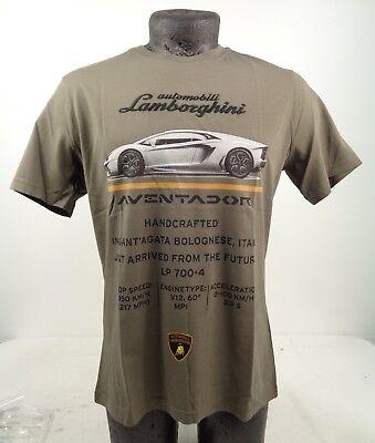 NEW GENUINE Lamborghini Automobili Mens Aventador Plum T-Shirt XS-2XL D1 LT5
