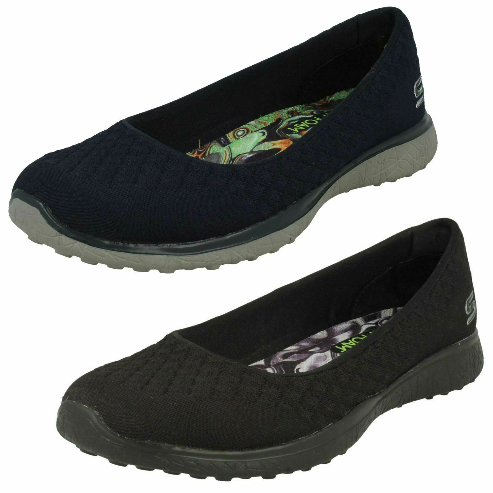 Femmes Skechers 23312 Microburst - One-Up Marine Chaussures Décontractées