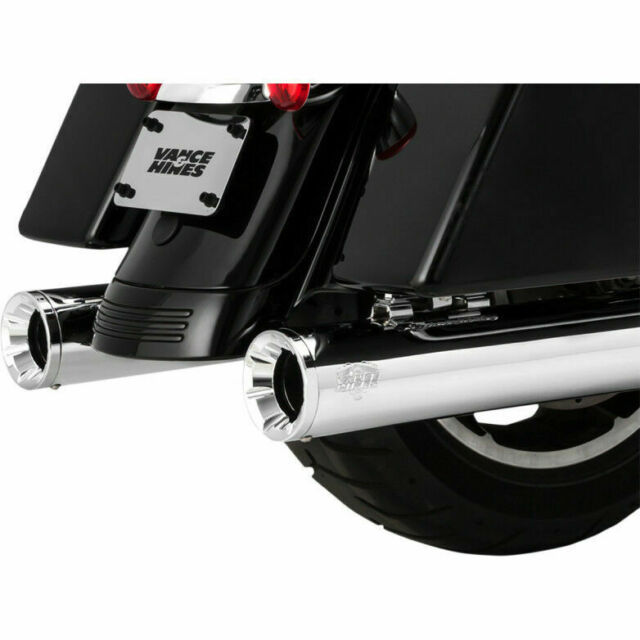Escape Para Harley-Davidson® Vance Hines Eliminator 400 Slip-On Mufflers Chrome