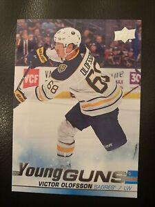 2019-20-Upper-Deck-Young-Guns-Victor-Olofsson-207-Buffalo-Sabres