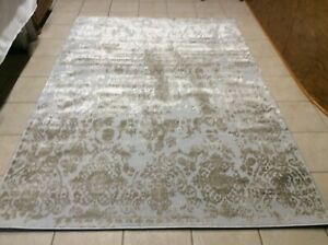 Details About Inspire Me Home Decor 53 X 76 Elegant Opulence Rug Champagne New
