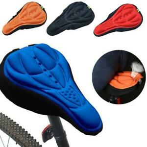 3D Silicone Gel Thick Soft Bicycle Bike Cycling Saddle Seat Cover Cushion Pad NW