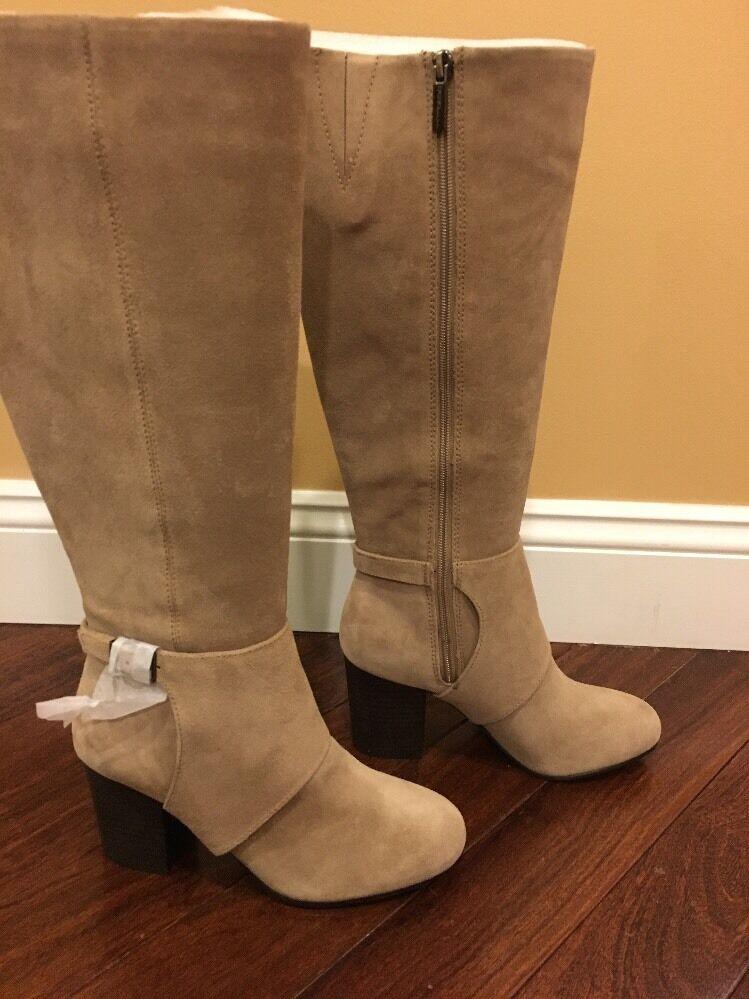 Bcbgeneration Denver Rodilla Alta Moda botas-Marrón Topo, 8 M M M US-Display  100% garantía genuina de contador