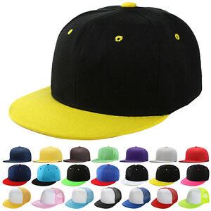 a850b2446d9 Plain Snapback Hat Caps Flat Peak Funky SP Retro Baseball Vintage ...