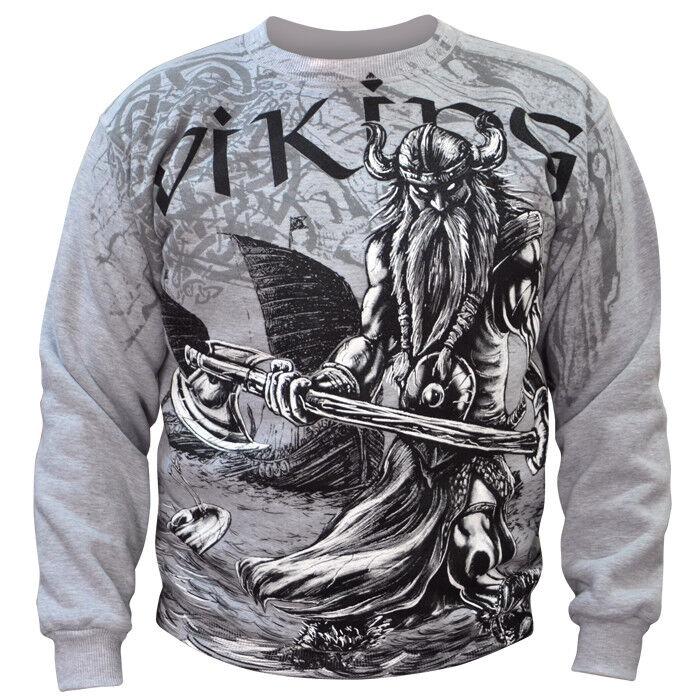 Sweatshirt Valhalla Nordic Viking Drakar Vikings Warrior Odin Thor Wiking Rune