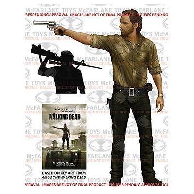 "AMC The Walking Dead McFarlane Large 10/"" Rick Grimes Action Figure Sheriff Gun"